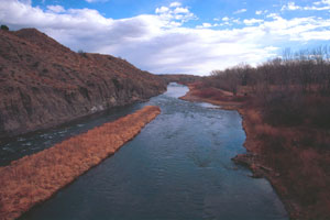 This view of the Arkansas south of the Royal Gorge gave Pike little hint of what was in store for him ahead.