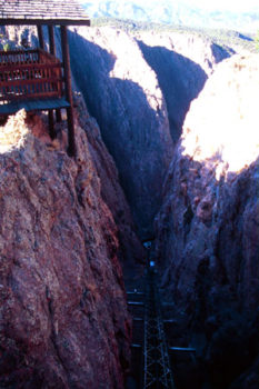 Pike and part of his party climbed up this sheer crevice and out of the gorge with virtually no modern moutaineering gear!