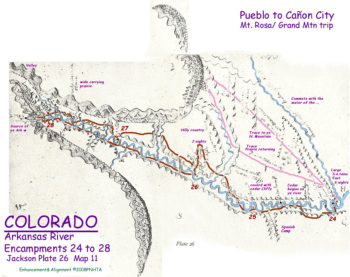 Map 11 (Field 26)- Pike's attempt of his Grand Mountain (Pikes Peak) (Jackson Plate 26)