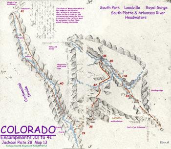 Map 13 (Field 28)- Pueblo to Cañon City, South Park & Leadville (Jackson Plate 28)
