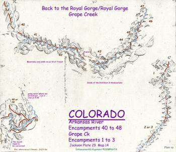 Map 14 (Field 29)- Back to the Royal Gorge on the Arkansas (Jackson Plate 29)