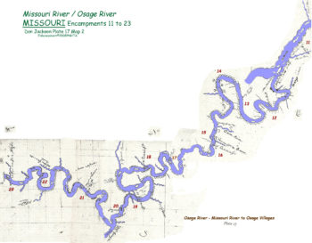 Map 2 (Field 17)- Osage River from Missouri River to Bagnell Dam area (Jackson Plate 17)
