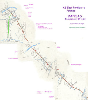 Map 6 (Field 21)- Eastern Kansas to the Pawnee Republic (Jackson Plate 21)