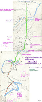 Map 7 (Field 22)- Pawnee Republic NE to Great Bend and the Arkansas River (Jackson Plate 22)