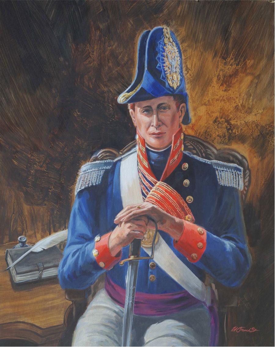 Zebulon Montgomery Pike, portrait by Ed French