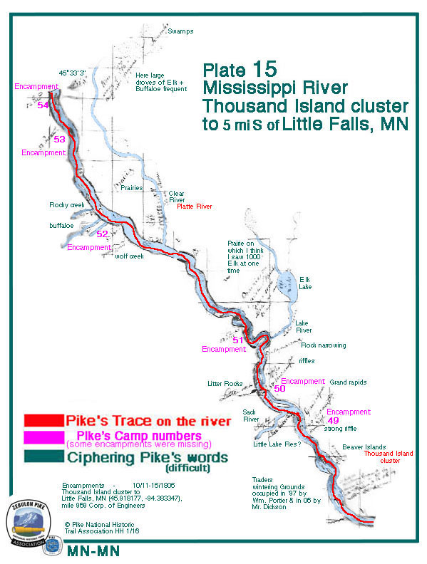 Field Plate/Map 15- Mississippi River: Thousand Island cluster to 5 mi. S of Little Falls, MN