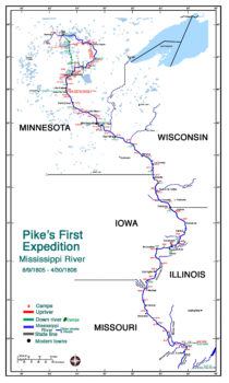 Pike's 1st Expedition (Upper) Mississippi