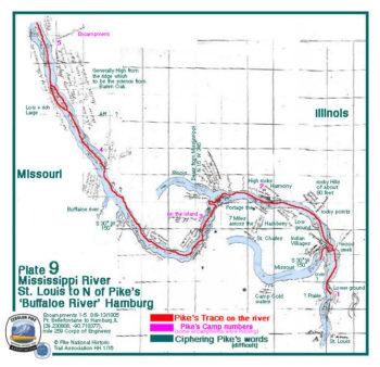 Field Map/ Plate 9 Mississippi: St. Louis to Hamburg, IL