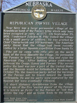 Pawnee Village Sign