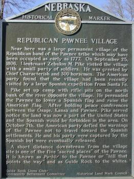 Pawnee Village Sign