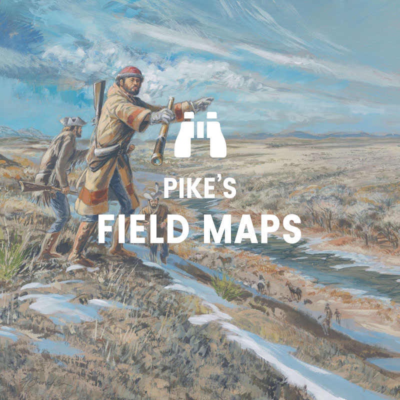 Pike's Field Maps - Painting, A Small Blue Cloud, by Ed French