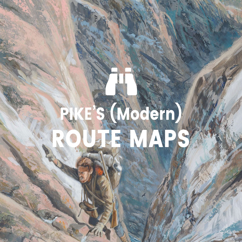 Modern Maps of Pike's Route - Painting, Up Out Of The Gorge, by Ed French