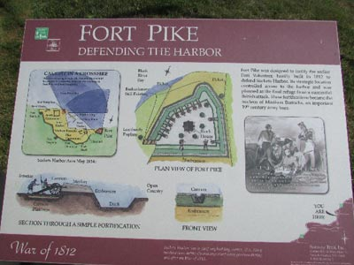 Fort Pike Historic Display